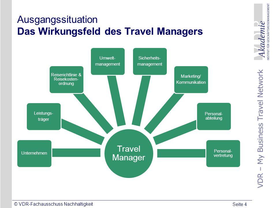 Ausgangssituation Das Wirkungsfeld des Travel Managers