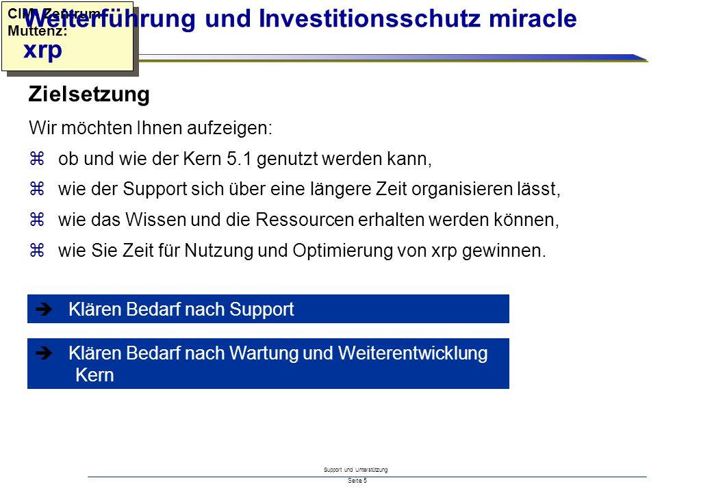Weiterführung und Investitionsschutz miracle xrp