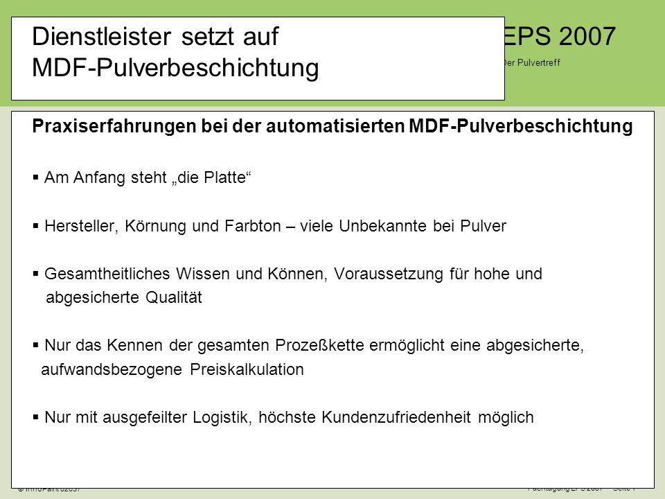 Dienstleister setzt auf MDF-Pulverbeschichtung