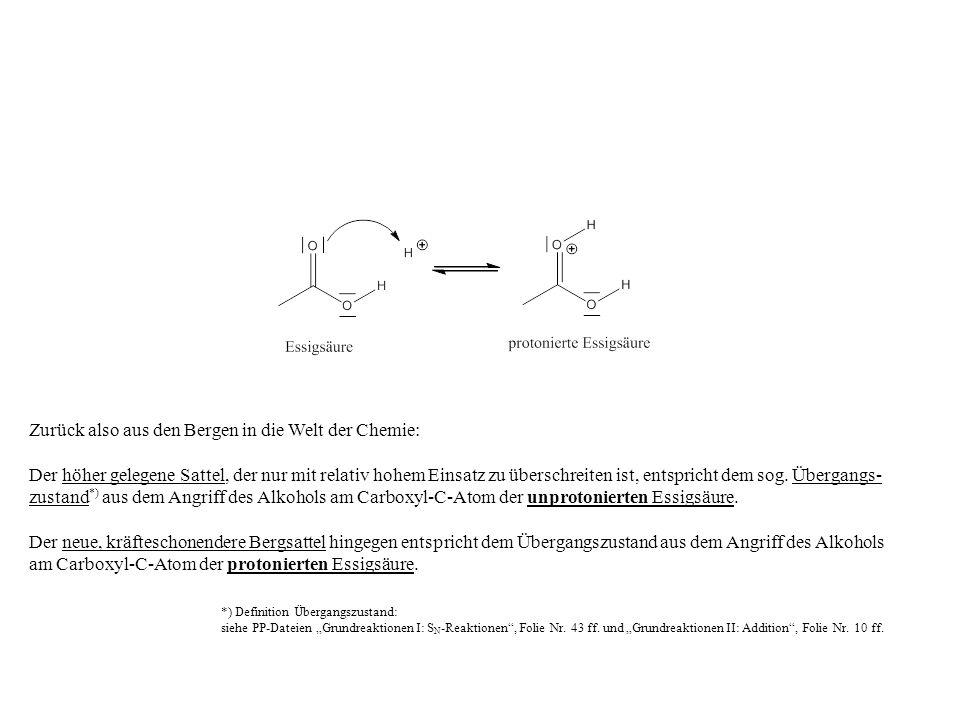 Zurück also aus den Bergen in die Welt der Chemie: