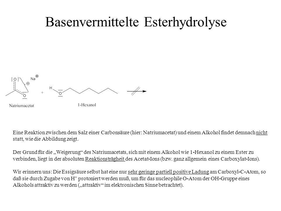 Basenvermittelte Esterhydrolyse