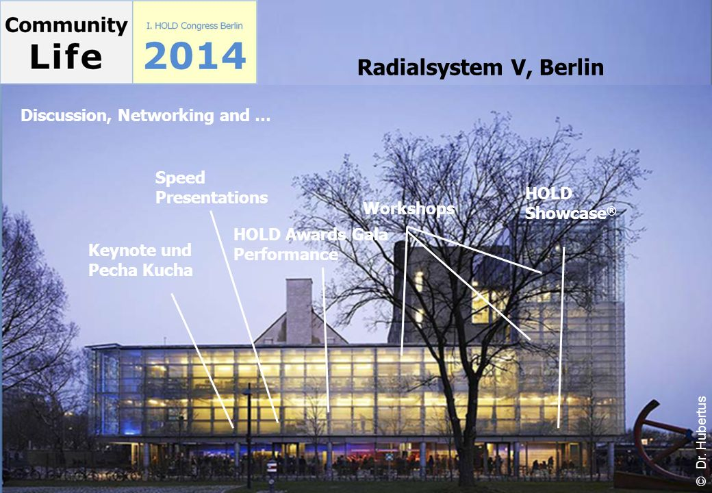 Radialsystem V, Berlin Discussion, Networking and …
