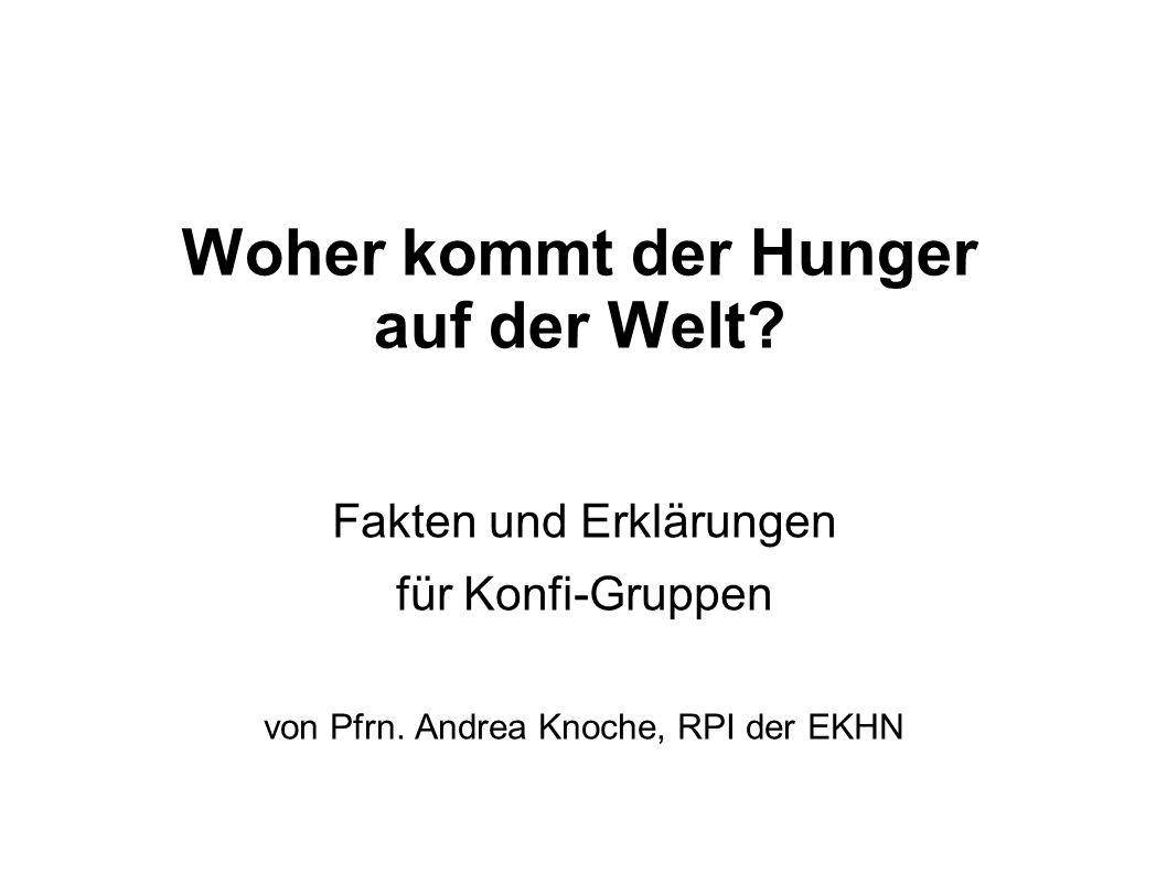 Woher kommt der Hunger auf der Welt