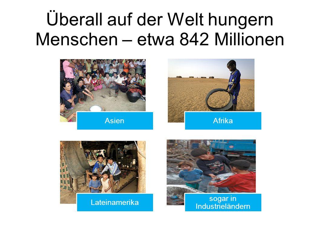 Überall auf der Welt hungern Menschen – etwa 842 Millionen