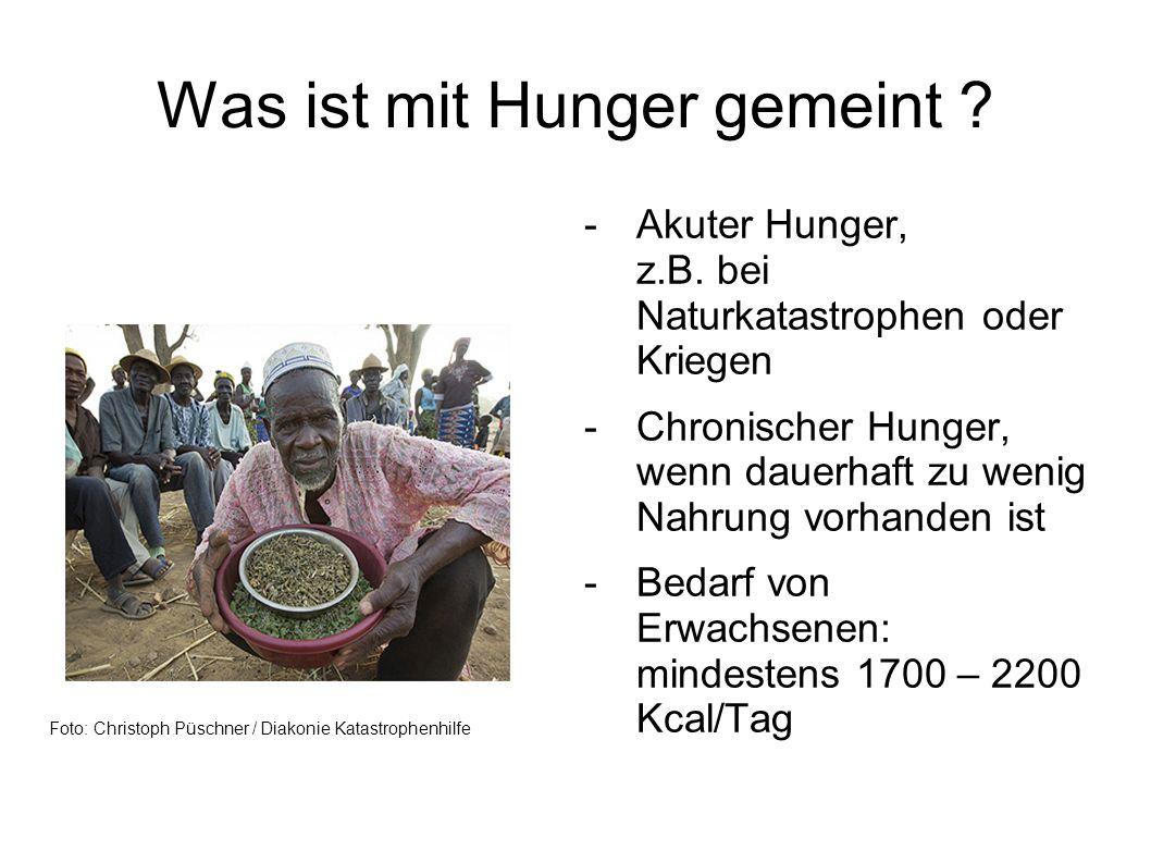 Was ist mit Hunger gemeint