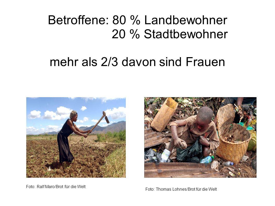 Betroffene: 80 % Landbewohner