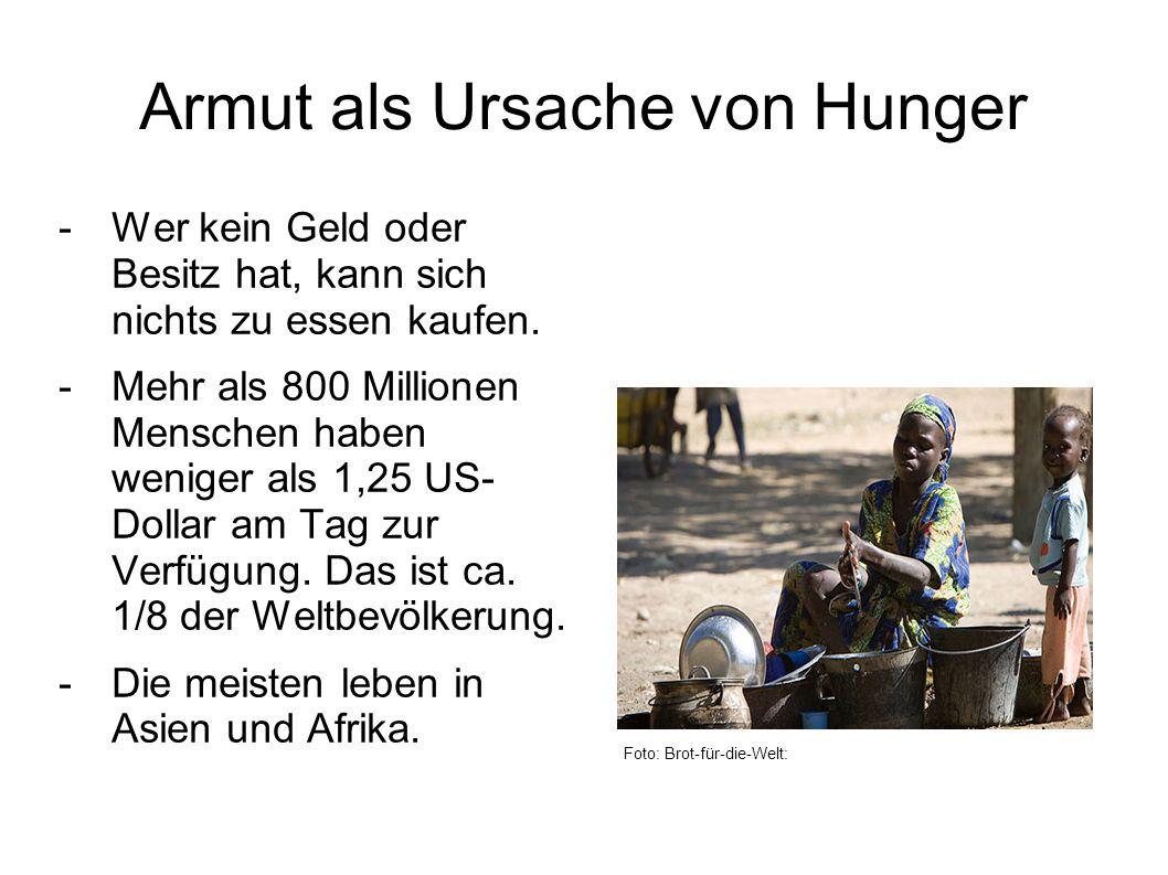 Armut als Ursache von Hunger