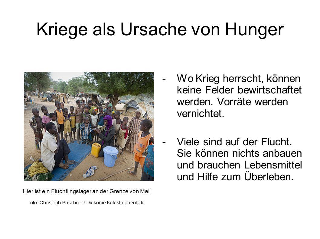 Kriege als Ursache von Hunger