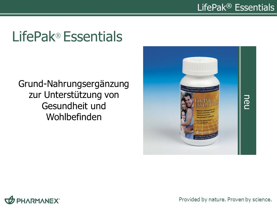 LifePak® Essentials neu
