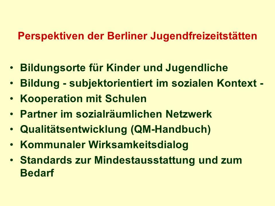 Perspektiven der Berliner Jugendfreizeitstätten