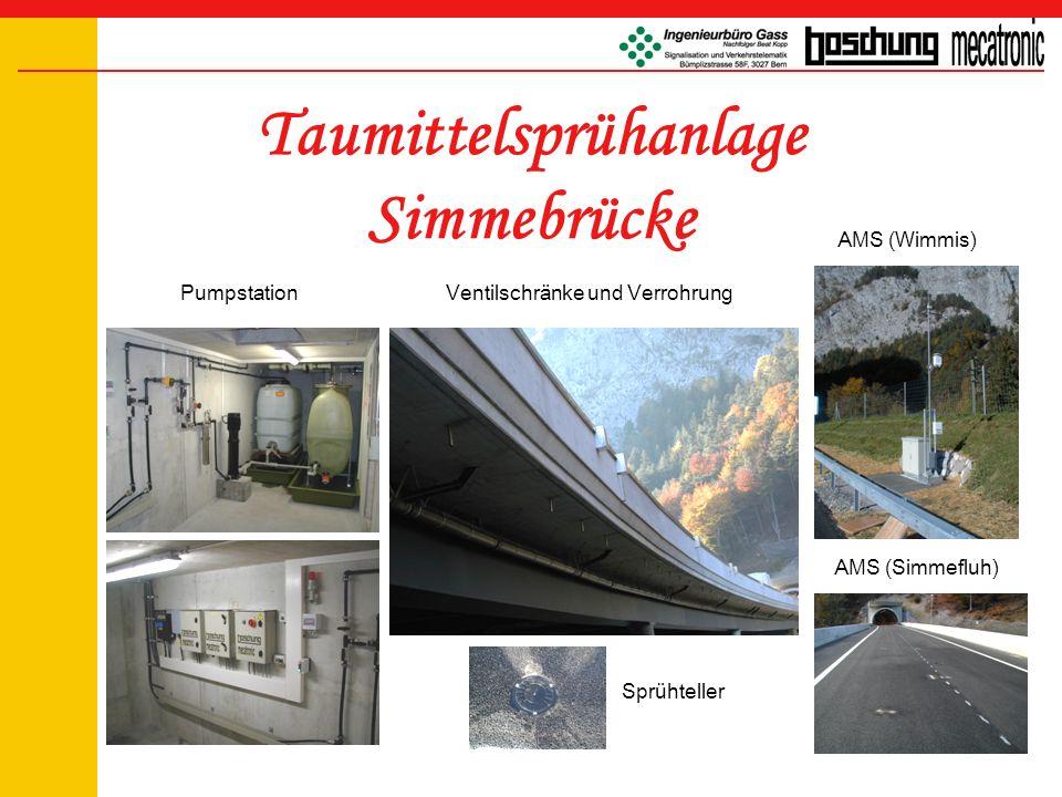 Taumittelsprühanlage Simmebrücke