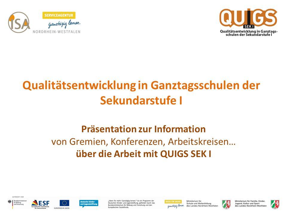 Qualitätsentwicklung in Ganztagsschulen der Sekundarstufe I