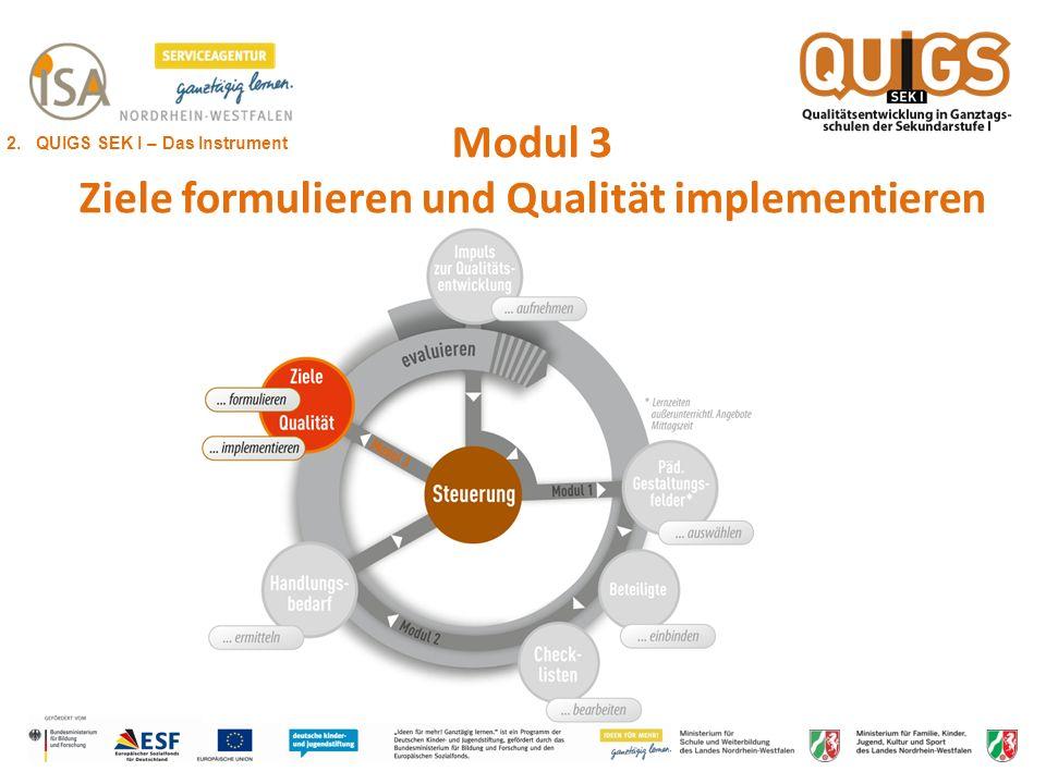 Modul 3 Ziele formulieren und Qualität implementieren