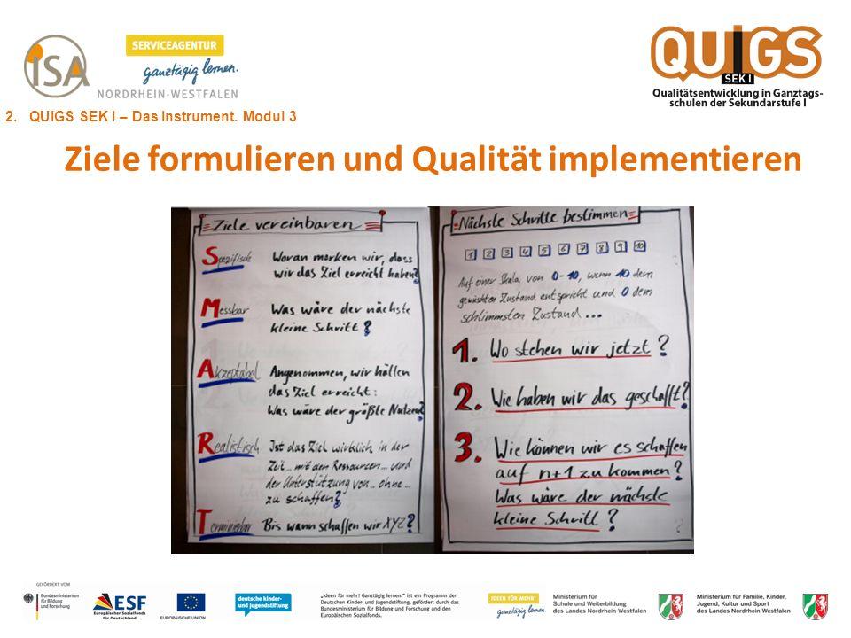 Ziele formulieren und Qualität implementieren