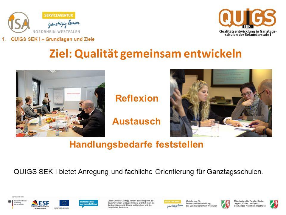 Ziel: Qualität gemeinsam entwickeln