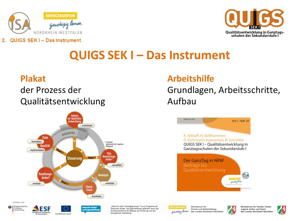 QUIGS SEK I – Das Instrument