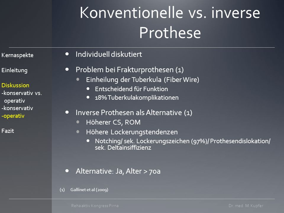 Konventionelle vs. inverse Prothese
