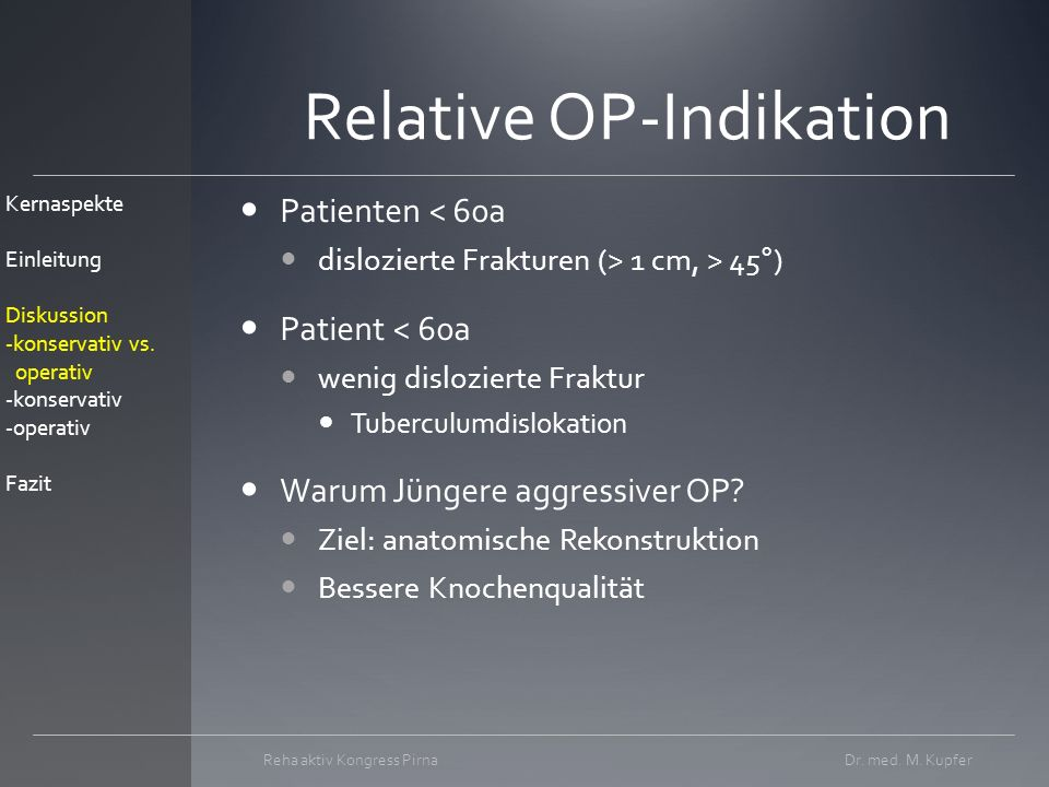 Relative OP-Indikation