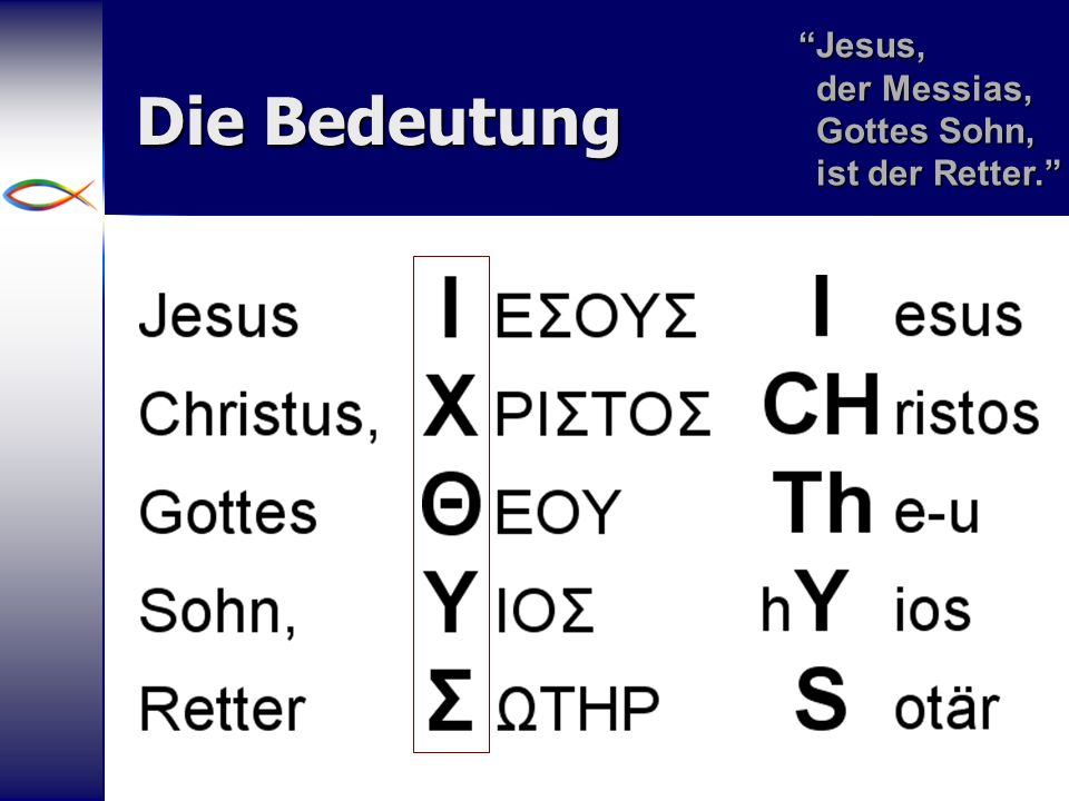 Jesus, der Messias, Gottes Sohn, ist der Retter.