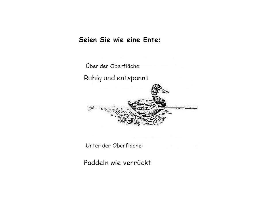 Seien Sie wie eine Ente: