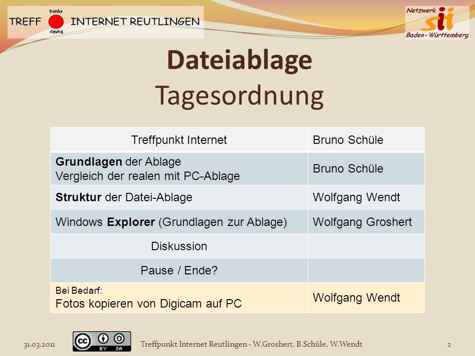 Dateiablage Tagesordnung