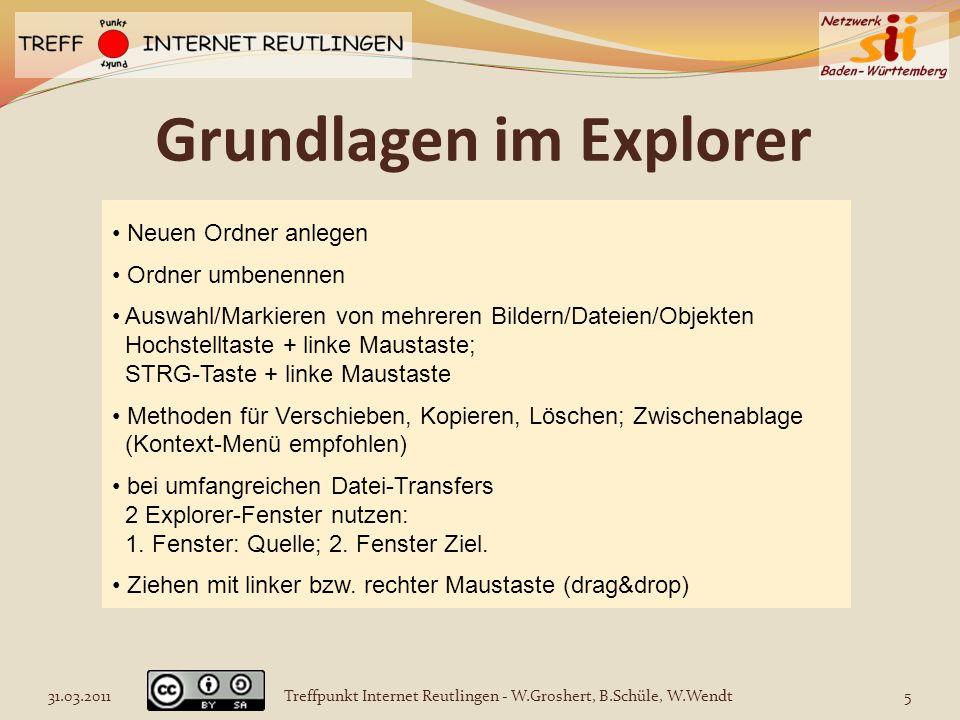 Grundlagen im Explorer