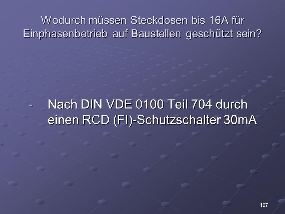 Nach DIN VDE 0100 Teil 704 durch einen RCD (FI)-Schutzschalter 30mA