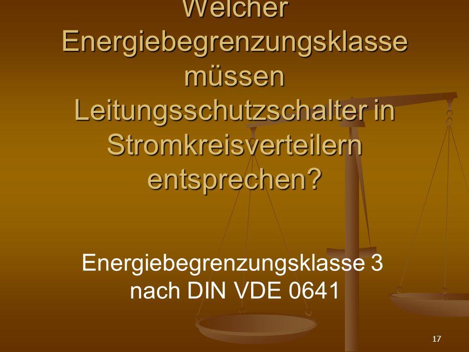 Energiebegrenzungsklasse 3