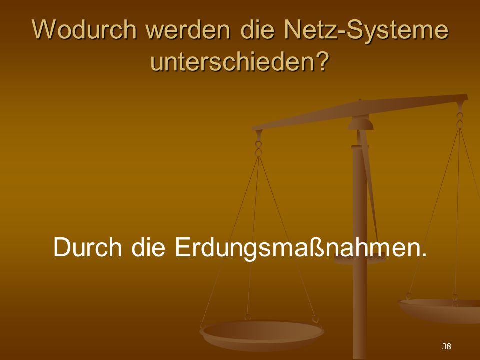 Wodurch werden die Netz-Systeme unterschieden