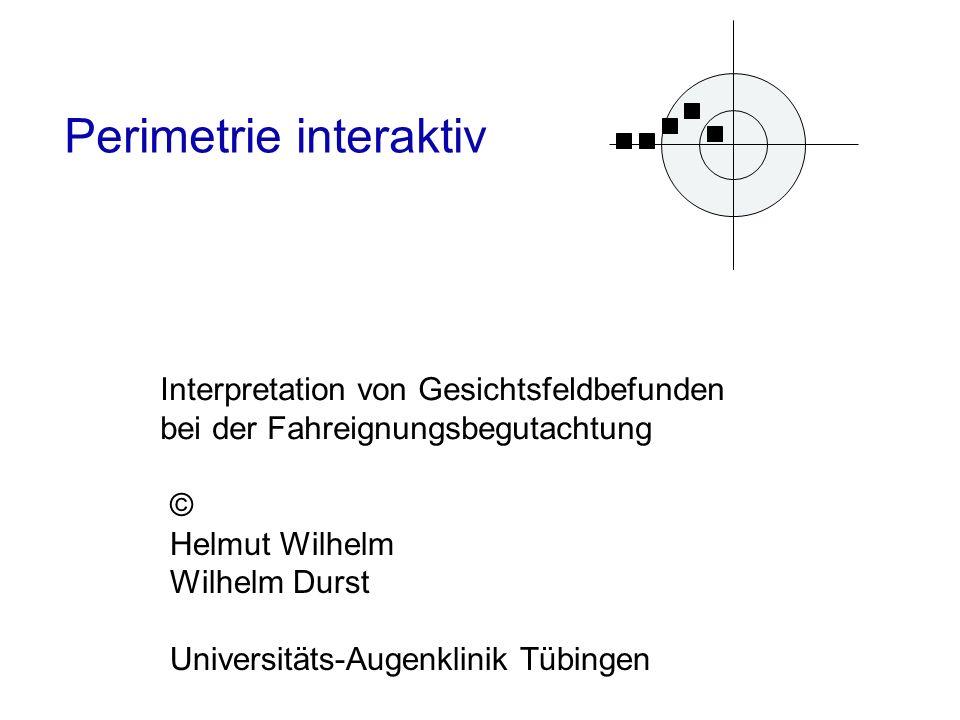 Perimetrie interaktiv