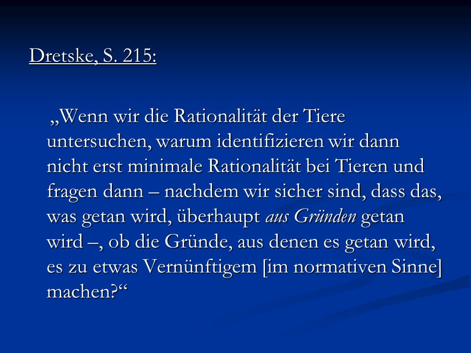 Dretske, S. 215: