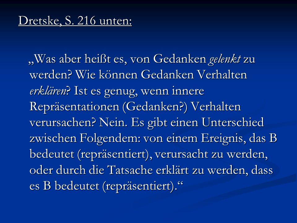 Dretske, S. 216 unten: