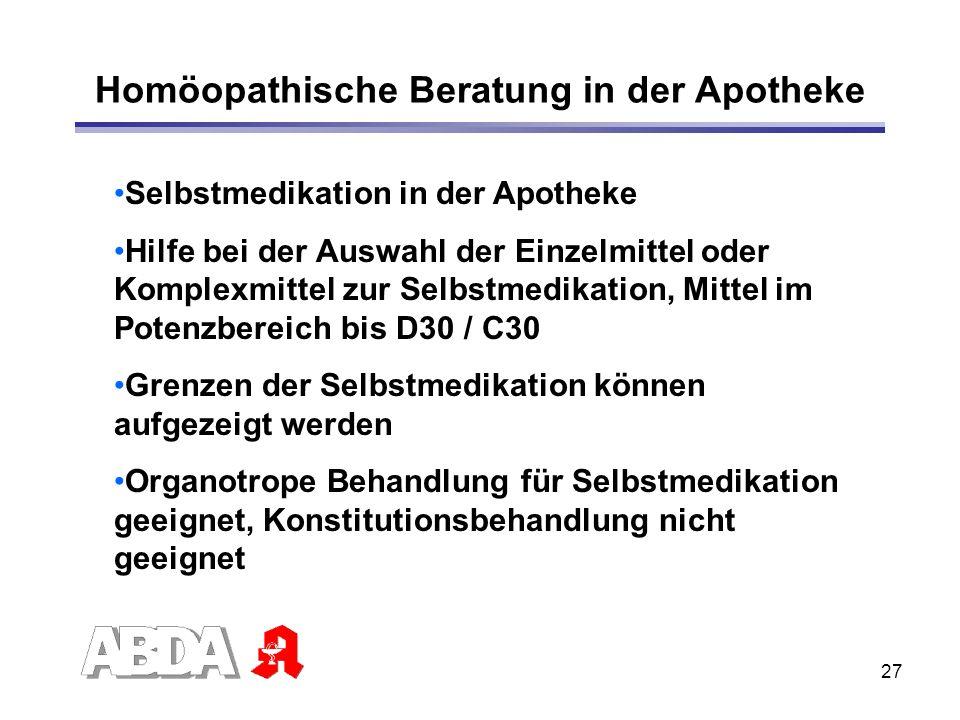 Homöopathische Beratung in der Apotheke