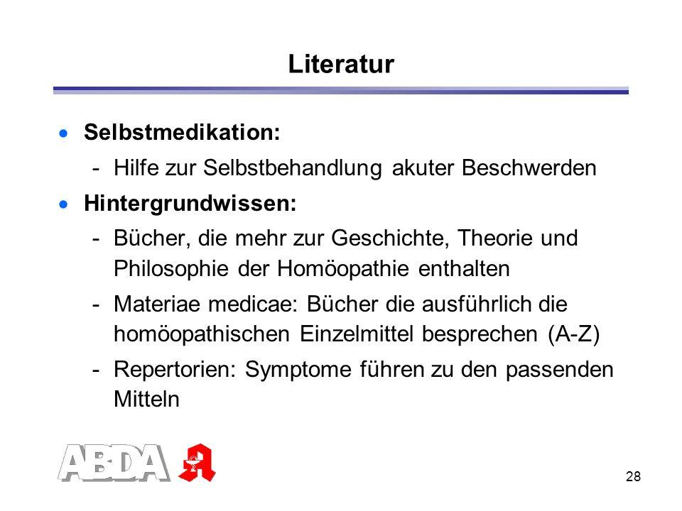 Literatur Selbstmedikation: