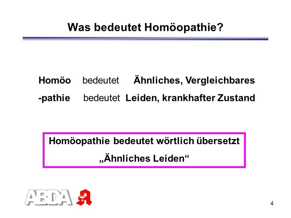 Was bedeutet Homöopathie