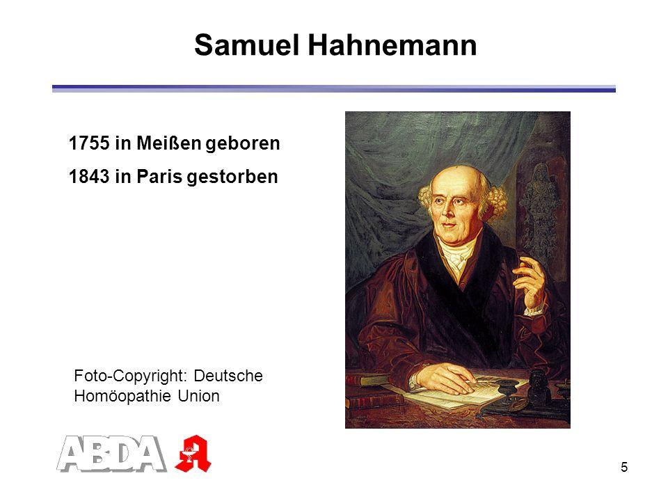 Samuel Hahnemann 1755 in Meißen geboren 1843 in Paris gestorben