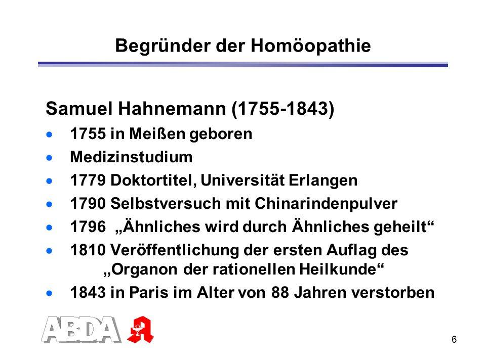 Begründer der Homöopathie