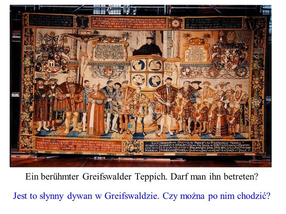 Ein berühmter Greifswalder Teppich. Darf man ihn betreten