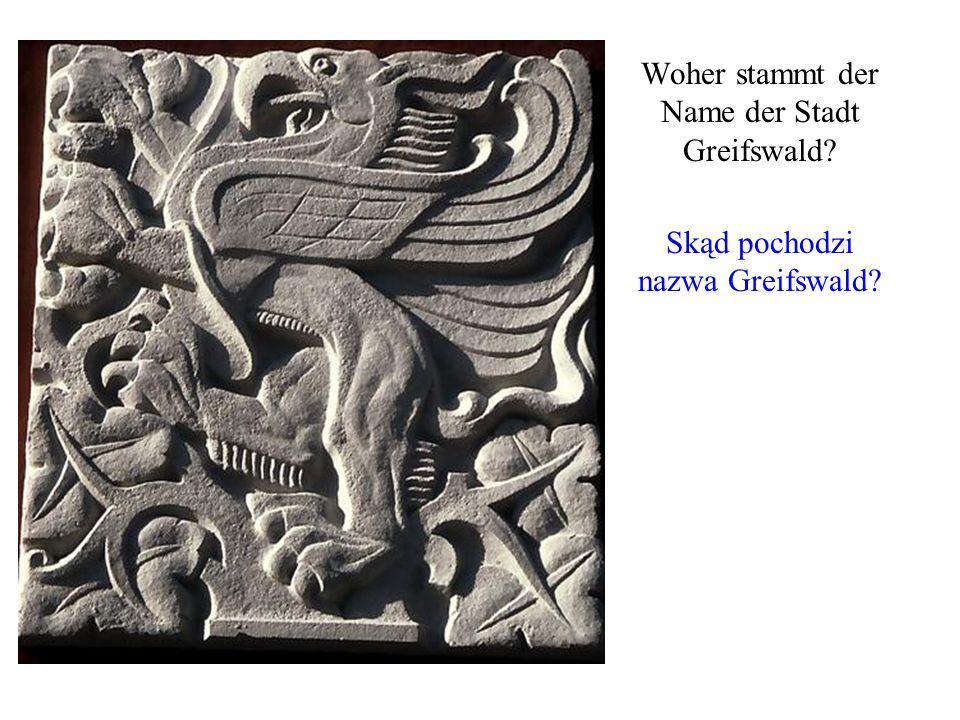 Woher stammt der Name der Stadt Greifswald