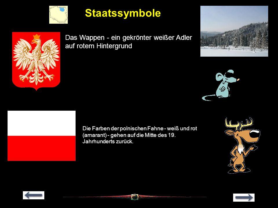 Staatssymbole Das Wappen - ein gekrönter weißer Adler