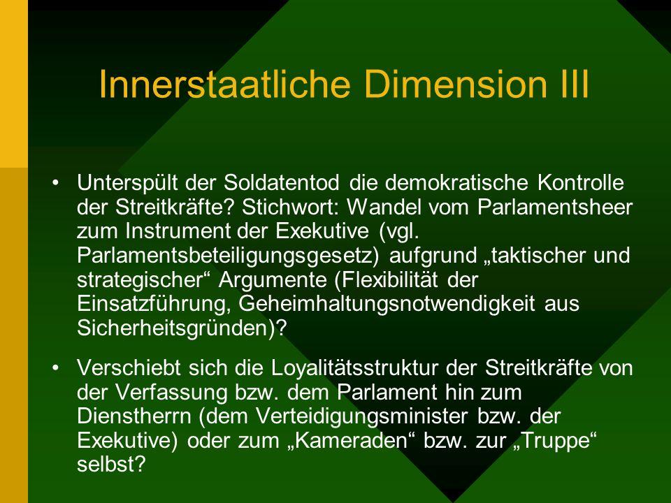 Innerstaatliche Dimension III