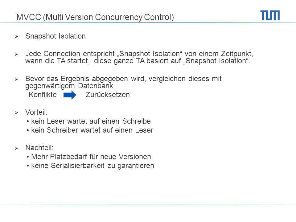 MVCC (Multi Version Concurrency Control)