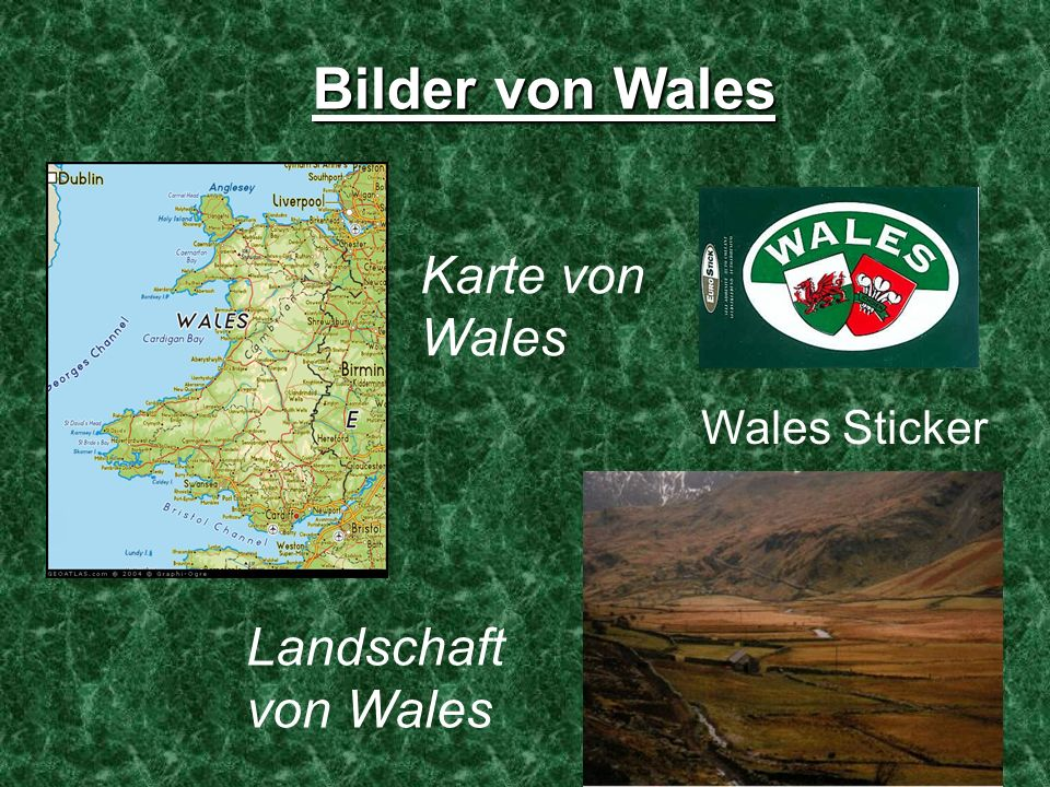 Bilder von Wales Karte von Wales Wales Sticker Landschaft von Wales