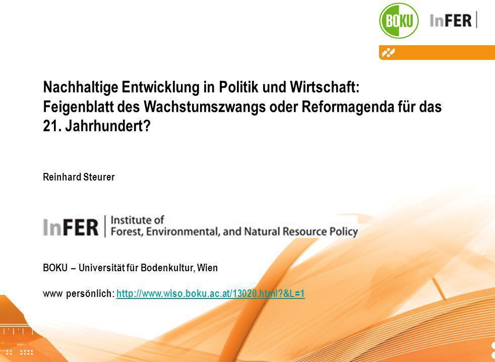 Nachhaltige Entwicklung in Politik und Wirtschaft: