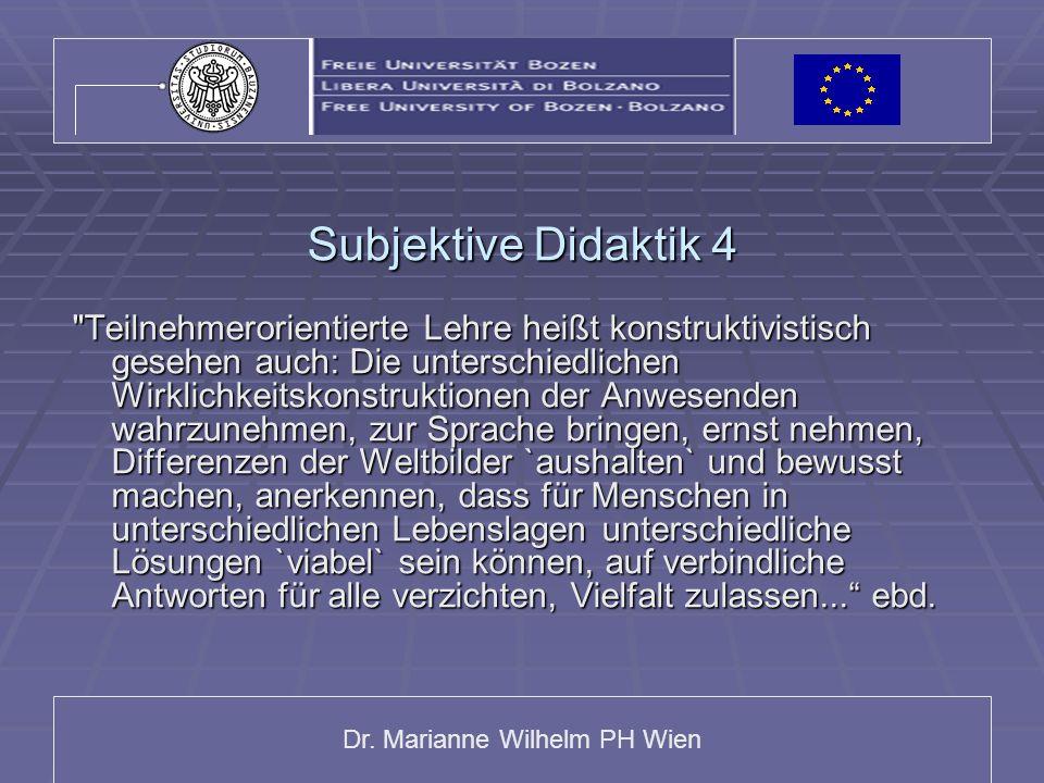 Subjektive Didaktik 4