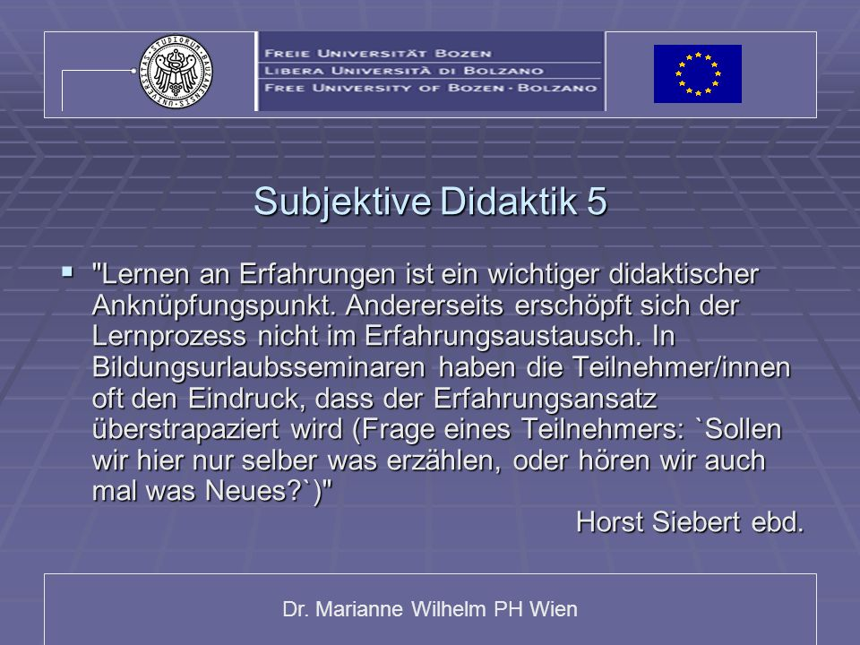 Subjektive Didaktik 5