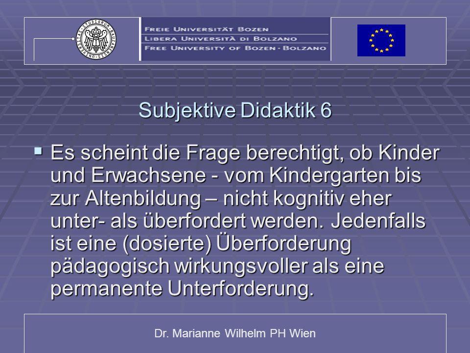 Subjektive Didaktik 6