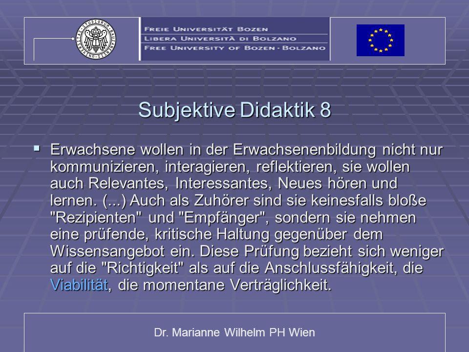 Subjektive Didaktik 8