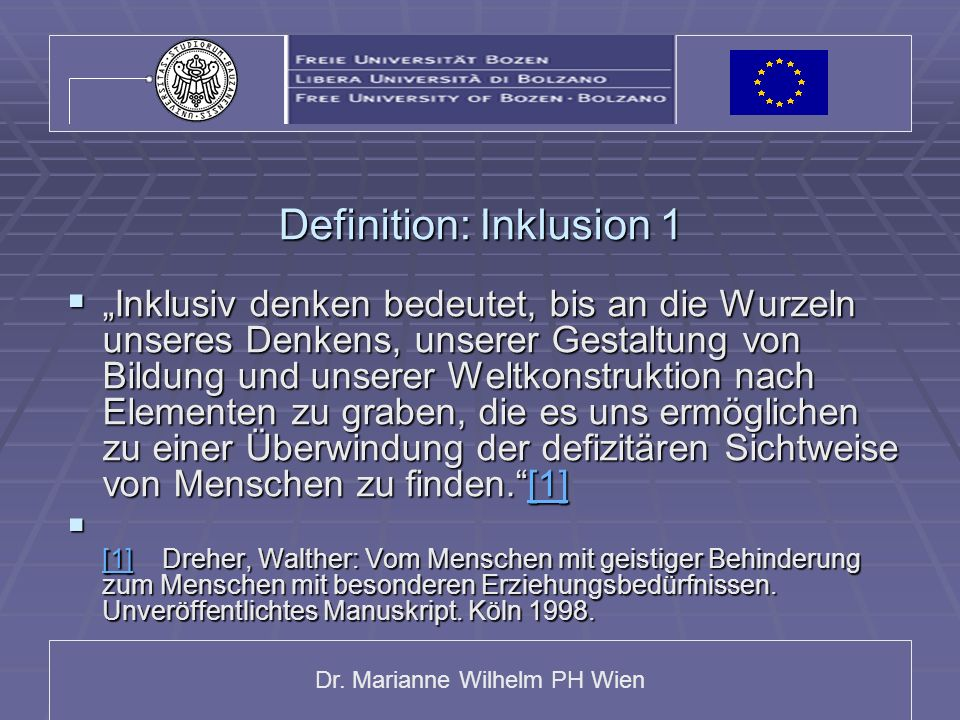 Definition: Inklusion 1