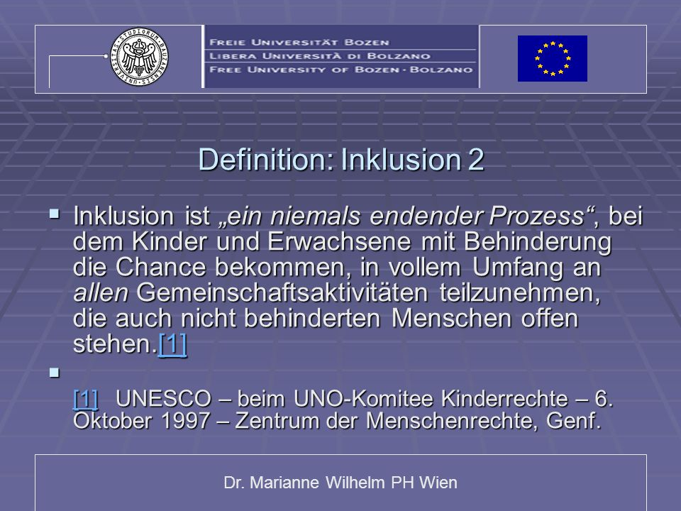 Definition: Inklusion 2